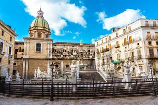 Fontana Pretoria in Palermo, Sicily, Italy