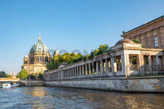 Berlin Cathedral (Berliner Dom) and Museum Island with Spree River in Germany