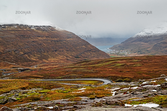 Panoramic view of Seydisfjordur, Iceland