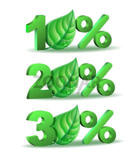 Spring Percent discount icon