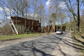 Ruinen der geplanten Reichsautobahn Hamburg-Berlin bei Hagenow, Mecklenburg-Vorpommern, Deutschland