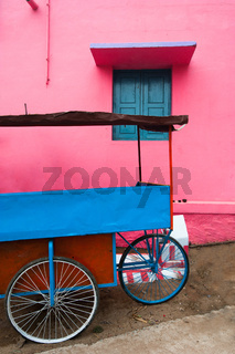 Bright colors of Indian street life