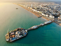 Brighton Pier, United Kingdom - Aerial Photograph