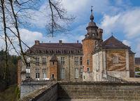 Castle chateau de Modave in Belgium
