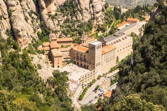 Santa Maria de Montserrat Abbey in Monistrol de Montserrat