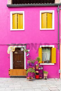 Haus in Burano, Venedig nach Hochwasser