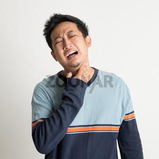 Asian male sore throat