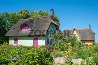 Siedlung mit reetgedeckten Wohnhäusern am Kap Arkona in Putgarten