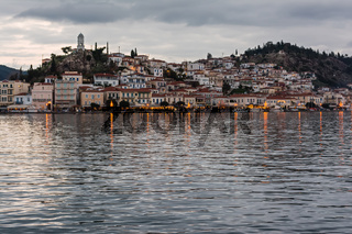Poros Island at dusk, Greece