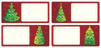 Stylized Christmas theme cards 1