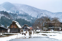 Shirakawago snow winter Japan