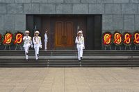 Change of the Guards at the Ho Chi Minh Mausoleum in Hanoi