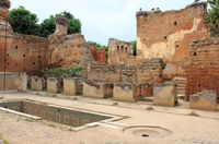 Ancient ruins in the Necropolis of Cellah in Rabat