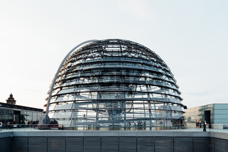 View of the dome of Reichstag building in Berlin