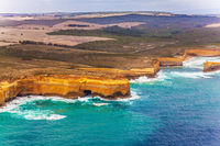 Scenic group of limestone cliffs