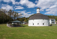 Hamilton round barn and museum in Mannington West Virginia