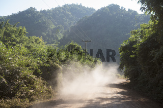 LAO HUAY XAY ROAD DUST