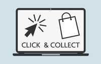 click and collect concept vector illustration