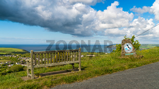 Viewpoint over Dinas Cross, Pembrokeshire, Dyfed, Wales, UK