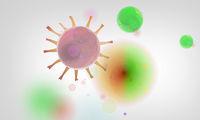 virus zellen infektion strukturen abstrakt symbol