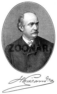 Friedrich Wilhelm Hacklaender, 1816 - 1877, a German writer,