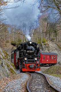 Harz nostalgisches Eisenbahnerlebnis im Selketal