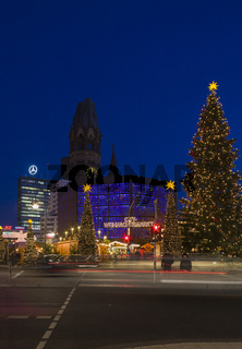 Weihnachtsmarkt auf dem Breitscheidplatz, Berlin
