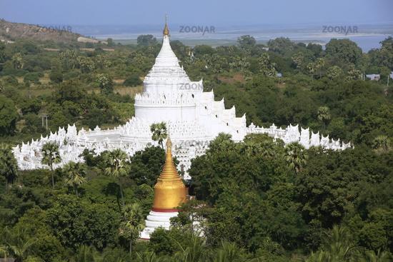 Hsinbyume Pagoda in Mingun, Mandalay region, Myanm