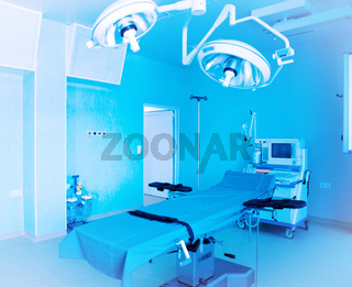 Image of medical ventilator. Hospital respiratory ventilation. Patient life saving machine. Modern hospital operating room