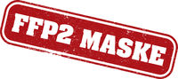 rubber stamp with text FFP2 MASKE