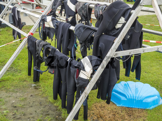 Drying frame for wetsuits