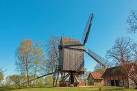 Wooden windmill in Rethem, Lower Saxony, Germany
