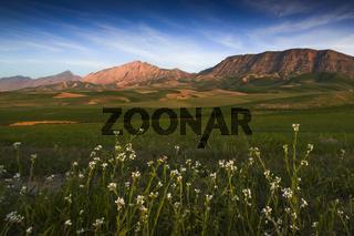 Sonenuntergang am Marmal-Gebirge (Afghanistan)