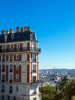 Blick auf historische Gebäude in Paris, Frankreich