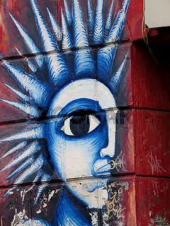 Wandmalerei bei 'Onkel Otto' in Hamburg-St.Pauli