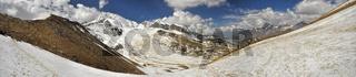 Scenic panorama in Dolpo region in Nepal