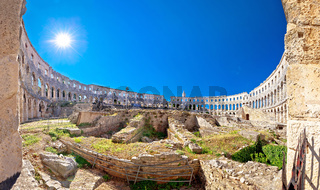 Arena Pula. Ancient ruins of Roman amphitheatre in Pula