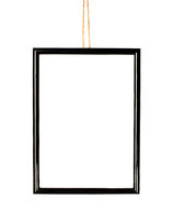Plastic photo frame isolated on white background