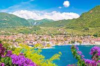 Town of Salo on Lago di Garda lake view