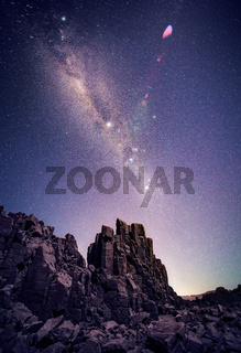 Bombo Headland under starry night sky Australia