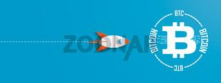 Rocket Bitcoin First Blue Header
