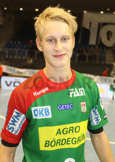deutscher Handballer Matthias Musche (SC Magdeburg) Handball-Bundesliga-Saison 2013/14