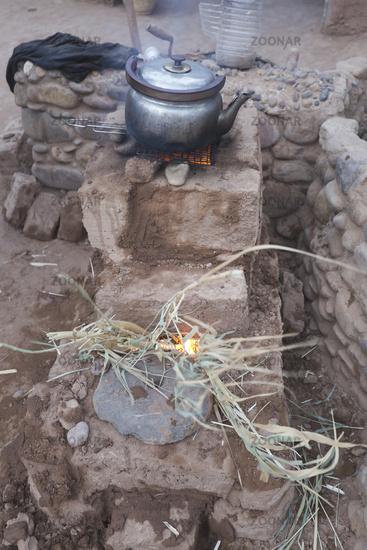Preparing Couscous in M'Hamid El Ghizlane.