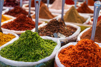 Close-Up Of Spices on a Market