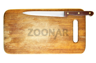 Knife on chopping board