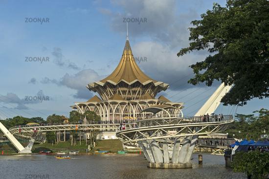Sarawak State Legislative Assembly Building, Kuching, Sarawak, Borneo, Malaysia