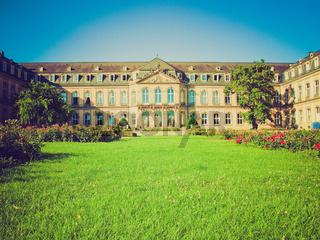 Retro look Neues Schloss (New Castle), Stuttgart