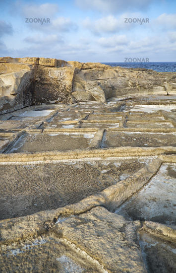 Coastal Salt Pans. Marsaskala, Malta