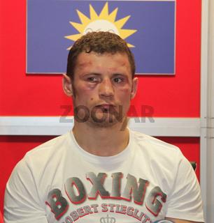 Ex-WBO Boxweltmeister Robert Stieglitz (SES-Boxing) nach WBO WM-kampf Stieglitz-Abraham 1.3.14