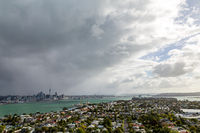 Dark cloud over Auckland skyline